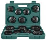 Комплект чашек для съема масляных фильтров 65-100 мм, 14 предметов