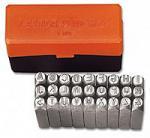 Клейма буквенные латинские A-Z № 10 стальные 27 шт Standard(12х12х80 мм)