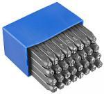 Клейма буквенные кирилица А-Я № 3 стальные 32 шт Standard(6х6х65 мм)